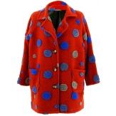 Manteau femme grande taille laine rouille COCCINELLE