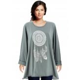 Tunique grande taille tee shirt gris DREAM