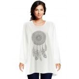 Tunique grande taille tee shirt blanc DREAM