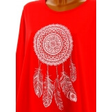Tunique grande taille tee shirt rouge DREAM