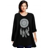 Tunique grande taille tee shirt noir DREAM