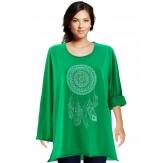 Tunique grande taille tee shirt vert DREAM