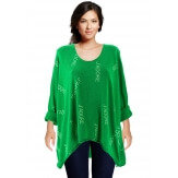 Tunique grande taille tee shirt vert JADORE