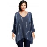 Tunique grande taille tee shirt bleu jean JADORE