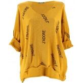 Tunique grande taille tee shirt safran JADORE