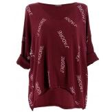 Tunique grande taille tee shirt bordeaux JADORE