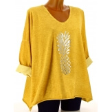 Tunique tee shirt femme grande taille safran ANANAS