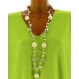 Sautoir long collier perles bijoux C39