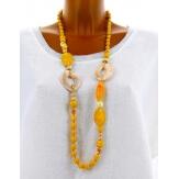 Sautoir long collier perles verre ethnique C41