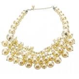 Gros collier perles bohème chic C38
