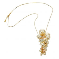 Sautoir long collier perles bijoux C40