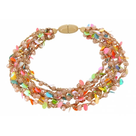 Collier multi rangs pampilles bohème C45