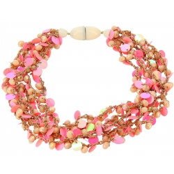 Collier multi rangs pampilles bohème C48