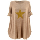 Pull tunique long femme grande taille taupe GAMMA