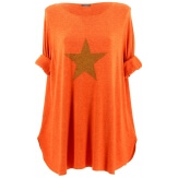 Pull tunique long femme grande taille orange GAMMA