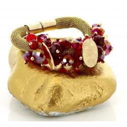 Bracelet bohème chic perles métal doré B9