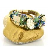 Bracelet bohème chic perles métal doré B10