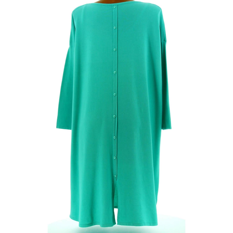fc04e2a9c58 Robe pull longue femme grande taille vert d  eau TAILA