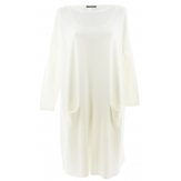 Robe pull longue femme grande taille ivoire TAILA