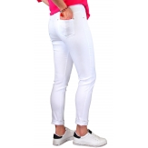 Jean femme grande taille lycra jegging blanc CANDY