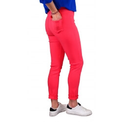 Jean femme grande taille lycra jegging corail CANDY