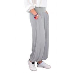 Pantalon fluide grande taille gris DELTA