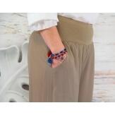 Pantalon fluide grande taille taupe DELTA