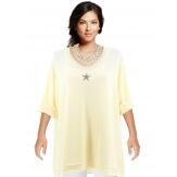 Tunique grande taille bohème étoile beige OMEGA