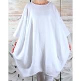 Robe grande taille lin bohème blanc COLETTE