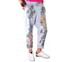 Pantalon jean grande taille loose gris PANAME