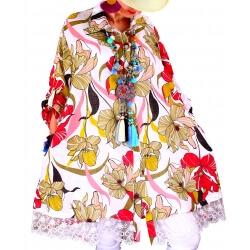 Chemise femme grande taille robe dentelle blanc NONZA