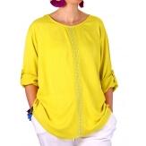 Tunique longue grande taille bohème jaune PALIMA