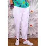 Pantalon femme grande taille stretch blanc NAYA