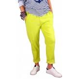 Pantalon femme grande taille stretch anis  NAYA