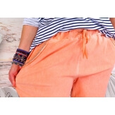 Pantalon femme grande taille stretch corail NAYA