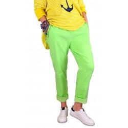 Pantalon femme grande taille stretch vert NAYA