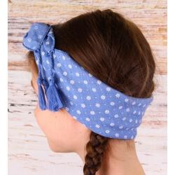 Headband femme foulard pompons bohème HB1 Accessoires cheveux
