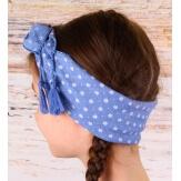 Headband foulard pompons bohème HB1