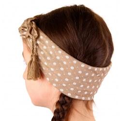 Headband foulard pompons bohème HB2