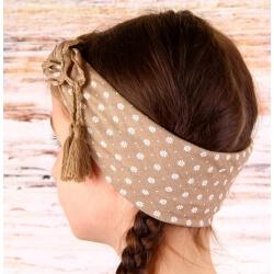 Headband foulard pompons bohème HB2 Accessoires cheveux
