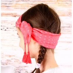 Headband femme foulard pompons bohème HB3 Accessoires cheveux