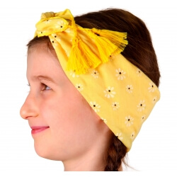 Headband foulard pompons bohème HB4