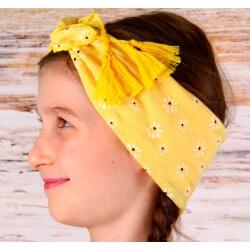Headband foulard pompons bohème HB4 Accessoires cheveux