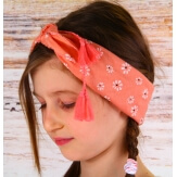 Headband foulard pompons bohème HB5