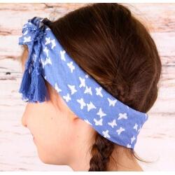 Headband femme foulard pompons bohème HB7 Accessoires cheveux