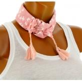 Headband foulard pompons bohème HB8