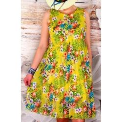 Robe femme grande taille plissée ZUMBA Jaune-Robe femme-CHARLESELIE94