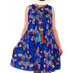 Robe femme grande taille plissée ZUMBA Bleu royal-Robe femme-CHARLESELIE94