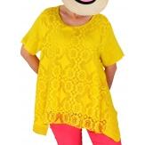 Tunique femme grande taille été dentelle chic YALE Jaune-Tunique été femme-CHARLESELIE94