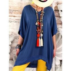 Tunique longue grande taille été bleu jean IZY-Tunique femme-CHARLESELIE94